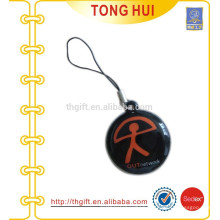 Soft PVC mobile phone charm & straps