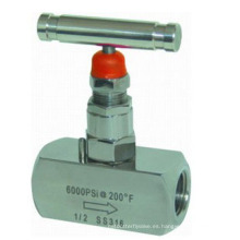 Válvula de aguja de alta presión de alta presión de acero inoxidable
