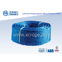 Gl Approved 3 Strand Polypropylene Monofilament Rope PP Mooring Rope