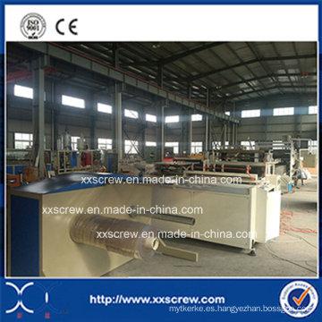 Extrusor de carrete de lámina de PVC puro