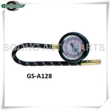 Bass stem Dial Type Tire Gauge with flexible hose and protective cover