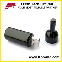 Presente relativo à promoção garrafa de vinho Uab Flash Drive com logotipo (D125)