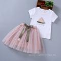 Latest design lovely fancy children baby girls summer watermelon dress