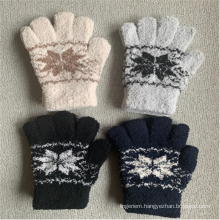 Lovely Embriodery Floral Printed Women's Five Fingers Gloves