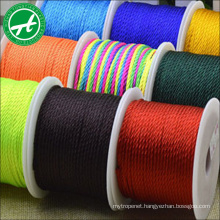 Fashion colorful nylon woven cord