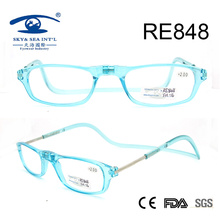 2017 Light Color Fashion Plastic Magnetic Reading Glasses (RE848)