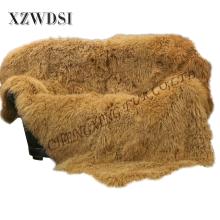 El cojín de piel de cordero mongol súper suave de oro más caliente