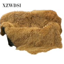 Hottest Golden Super Soft Mongolian Lamb Fur Cushion