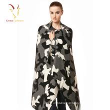 Senhoras sem mangas cashmere xale camuflagem xale cachecol