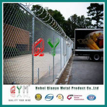 Chain Link Fence Razor Wire on Top