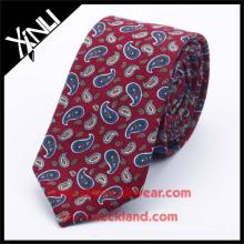 100% Handmade Mens Paisley Printed Tie Silkn