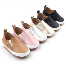 Slip-on mjuk läder Baby Crib Casual Skor