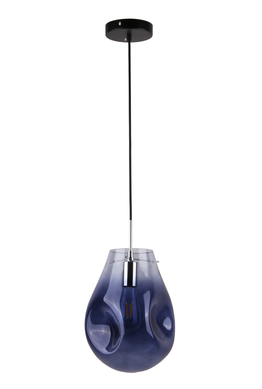 Glass Lamp Blue