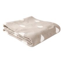 Poids lourd réversible coton tricot Baby Blanket CB-K16016