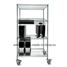 Multifunction Modern DIY Adjustable Metal Office Wire Storage Trolley (BK9045180A4CW)