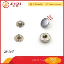 Bouton-pression en alliage de zinc de haute qualité pour jeans / sacs / manteaux prix de gros
