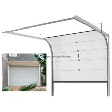 Porte en aluminium sectionnelle en aluminium