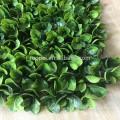 Jardin dernière conception artificielle haie verte avec feuille pour le dépistage