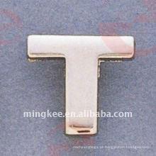 """Acessórios Decorativos para Bolsas Pequenas Letter- """"T"""" (O35-675A-T)"""