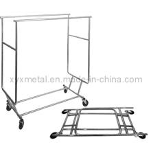 Plataforma de roupas de rolamento dobrável de grade comercial com grades comerciais exportadas