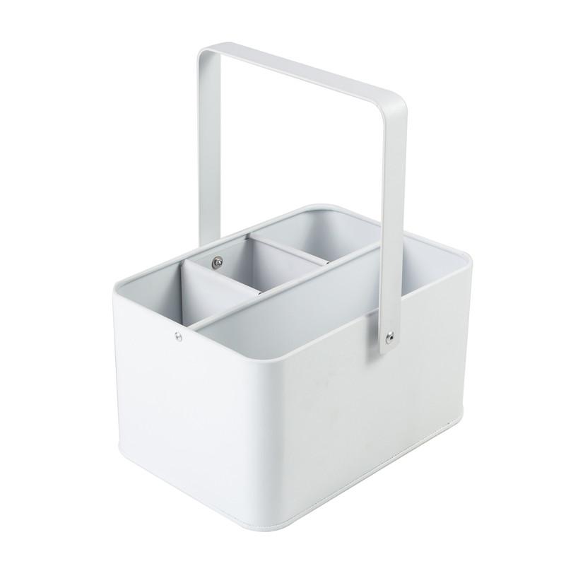 White Square Utensil Holder