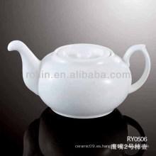 Pote de té al por mayor, tetera de té de porcelana, pote de té de cerámica