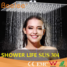 "10"" 2mm SUS304 Square Water Saving Flexible Shower Head"