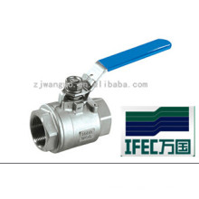 Vanne à bille en acier inoxydable 3PC (IFEC-BV100012)