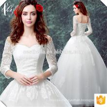 Vestido de boda de calidad superior elegante de la tapa del casquillo de Tulle de la tapa de la manera