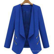 Novo estilo magro casual mulheres de negócios outwear (50012)