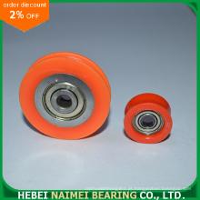 Roda de rolamento plástica do sulco de U