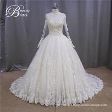 Xf1080 Long Sleeve Classic Muslim Bridal Wedding Dress 2016