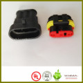 Male and female Tyco connector position locator switching cable assembly