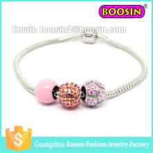 Bracelet à breloques en argent sterling 925 avec imitation chanceuse à la mode