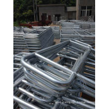 Hot DIP Galvanized Ball Jointed Steel Handrails Stanchions