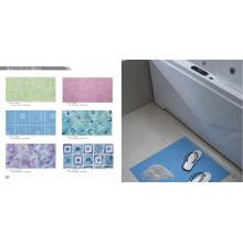 Tapis de bain imprimé anti-glissement PVC