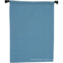 Wholesale custom natural pouch canvas muslin linen drawstring bag