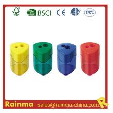 Eco-Frienly Material Muy Safrty dos agujero sacapuntas para niños