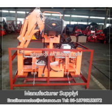 Mini excavator towable backhoe for tractor
