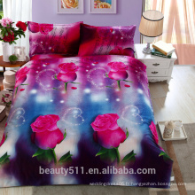 Fabrique fantaisie confortable 3d literie imprimée setdirect prix 100% coton 4pcs draps BS03