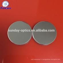 Verre en aluminium amélioré plat rond de miroir de 0.5in diamètre verre optique