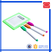 Felt tip dry erase non-toxic whiteboard marker with brush