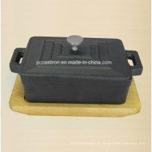 Pre Seaseond ferro fundido mini molho tamanho do pote 12.5x9x4.5cm