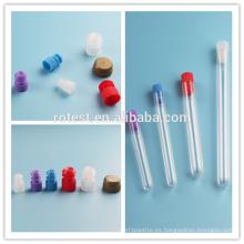 tapa de tubo de ensayo de varios colores 12mm