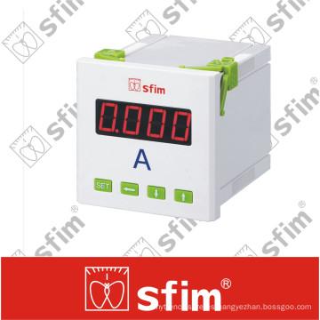 Amperímetro digital Sfim con conmutador seleccionado