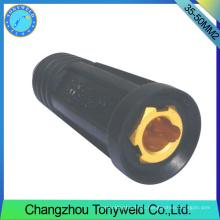 Tig pistola de soldadura de argón 35-50mm2 conector de unión de cable