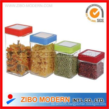 Food Jar with Color Lid