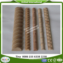 decorative carved steam beech wood moulding