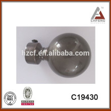 solid sphere finial for Canada market length 6m curtain pole/curtain pipe price/metal curtain pole and accessories
