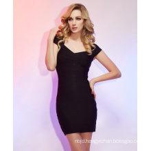 Sheath Column Short Sleeves Short Mini Bandage Dresses